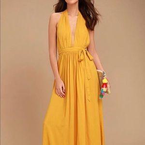 Lulus yellow maxi dress